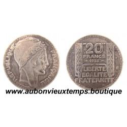 20 FRANCS 1936  TURIN   ARGENT