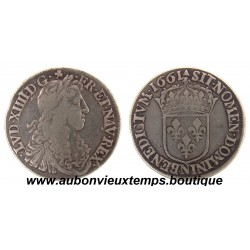 1/2 ECU  LOUIS XIV  1661 N   ARGENT
