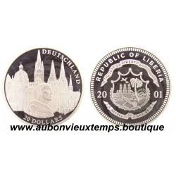 20 DOLLARS ARGENT  DEUTSCHLAND  - LIBERIA 2001