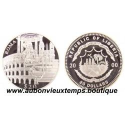 20 DOLLARS ARGENT  ROME  - LIBERIA 2000