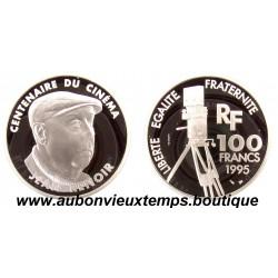 100 FRANCS 1995  - JEAN RENOIR - CENTENAIRE du CINEMA -  ESSAI   ARGENT   BE