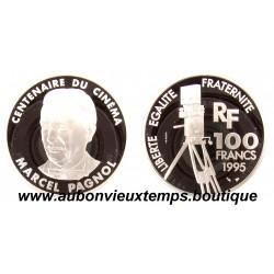 100 FRANCS 1995  - MARCEL PAGNOL - CENTENAIRE du CINEMA -  ESSAI   ARGENT   BE