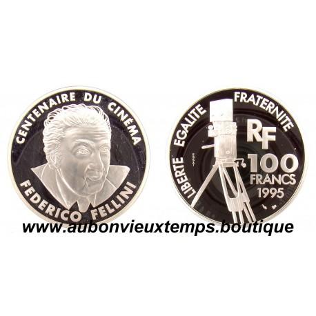 100 FRANCS 1995  - FEDERICO FELLINI - CENTENAIRE du CINEMA -  ESSAI   ARGENT   BE