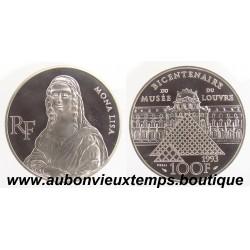 100 FRANCS 1993  - MONA LISA - BICENTENAIRE du MUSEE du LOUVRE -  ESSAI   ARGENT   BE