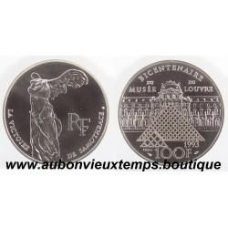 100 FRANCS 1993  - SAMOTHRACE - BICENTENAIRE du MUSEE du LOUVRE -  ESSAI   ARGENT   BE