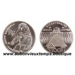 100 FRANCS 1993  - L'INFANTE - BICENTENAIRE du MUSEE du LOUVRE -  ESSAI   ARGENT   BE