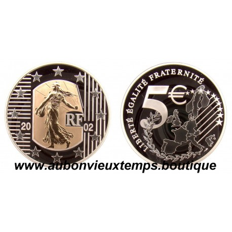 5 EURO  2002  SEMEUSE  OR-ARGENT   BE