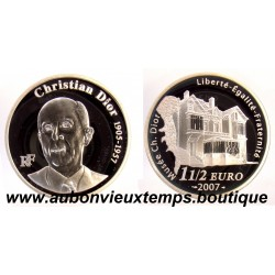 1 1/2  EURO  2007  CHRISTIAN DIOR  ARGENT   BE