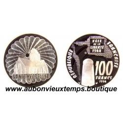 100 FRANCS - 1994  SAINTE MERE L'EGLISE - CINQUANTENAIRE DU DEBARQUEMENT ARGENT   BE