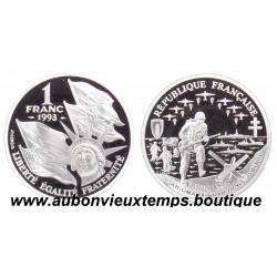 1 FRANC 1993 ARGENT BU - CINQUANTENAIRE DU DEBARQUEMENT