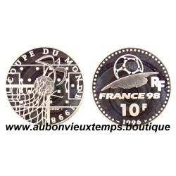10 FRANCS - 1996  FRANCE 98 -  COUPE DU MONDE 1998  ARGENT   BE