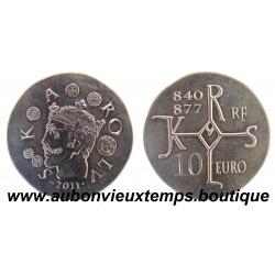 10 EURO - KAROLUS - 2011  CHARLES LE CHAUVE  ARGENT   BE