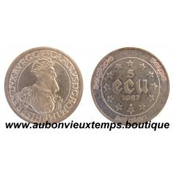 5 ECU  1987 CAROLUS - BELGIQUE  ARGENT   BU