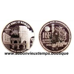 6.55957 FRANCS  1999  EUROPA  ARGENT  - ART GREC ET ROMAIN