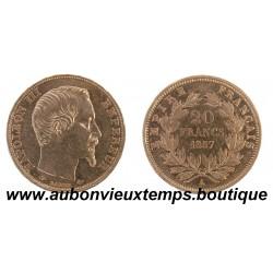 20 FRANCS NAPOLEON III 1857 A