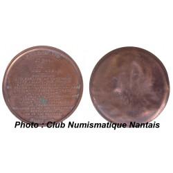 MEDAILLE CUIVRE PHARAMOND 1840