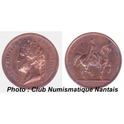 MEDAILLE BRONZE LOUIS PHILIPPE 1 1842