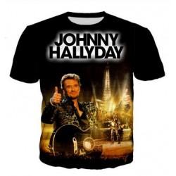 TEE SHIRT JOHNNY HALLYDAY - TOUR EIFFEL 2000