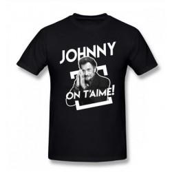 TEE SHIRT JOHNNY HALLYDAY - JOHNNY ON T'AIME