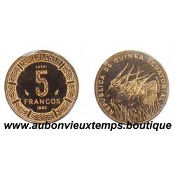 ESSAI 5 FRANCS  1985  GUINEE EQUATORIALE