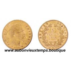 5 FRANCS  OR  1858 A