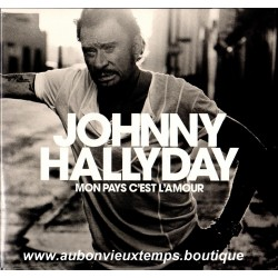 MON PAYS C'EST L'AMOUR - JOHNNY HALLYDAY VINYL BLANC 33T
